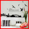 Ay1912 Sydney Silhouette Waterproof DIY Decoration Wall Sticker
