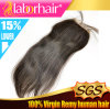 "22"" Brazilian Virgin Hair Hand Tied Free Parted Lace Closure"