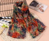 5 Colors High Quality Polyester Chiffon Lady Fashionable Scarf