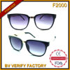 F2000 New Products Square Mixed Material Sunglasses Manufactured