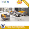 Modern Europe Design Steel Metal Leather Waiting Office Sofa (HX-S362)