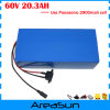 60V 20ah Lithium Battery Use Panasonic 2900mAh Cells