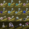 Crystal Ball Body Piercing (D008B-8MM)