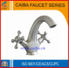 Stainless Steel Double Handle Basin Faucet 141-11