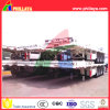 4 Axles Flatbed Type Long Vehicle Container Trailer
