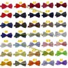 Popular Party Performance Unisex Plain Color Satin Bowtie 36 Solid Colors in Stock