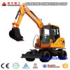 Chinese New Condition Wheel Moving Type Excavator 8ton Wheel Excavator with Japanese Engine