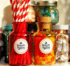Decorative Glass Jar with Wooden Lid