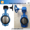 Cast/Ductile Iron Pn16 Dn200 Wafer Type Worm Gear Butterfly Valve