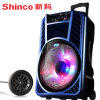 New Rechargeable Portable Trolley Speaker with Laser Light