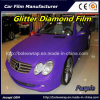 Purple Color Brilliant Diamond Film, Pearlized Diamond Car Body Vinyl Car Wrap Vinyl Film