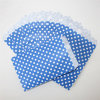 Eco-Friendly DOT Blue Paper Treat Bags for Party