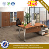 L Shape Steel Leg Design Oak Color Office Table (UL-MFC580)