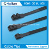 Black Double Locking Zip Tie with Not Easy to Age