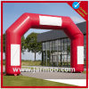 Outdoor Advertising PVC Inflatable Arch with Stick Banner