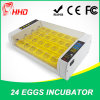 2017 Hhd Small Poultry Brooder Ew-24 Automatic 24 Eggs Incubator with Ce Certificate