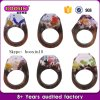 Customized Unique Jewelry Natural Resin Wood Rings with Real Flower