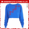 Wonder Print Cheap Wholesale Blue Custom Crewneck Sweatshirts Organic (ELTCHI-24)