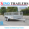 10*6 Tandem Bolted Galvanized Box Trailer with Cage