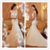 Hot Sale Trumpet/Mermaid Jewel/Scoop Court Train Appliques Beading Tulle Wedding Gown Wedding Dress 2014
