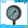 100mm 4′′ Stainless Steel Case Brass Connection Manometer