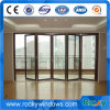 As2047 Thermal Break Aluminum Large Tempered Double Glass Folding Door