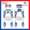 Healong Full Dye Sublimation Sky Blue Eco-Friendly Basketball Jersey