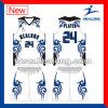 Healong Full Dye Sublimation Sky Blue Eco-Friendly Basketball Jersey