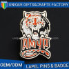 Chinese Manufacturers Tiger Shaped Metal Badge for Sales
