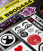 Silk Screen Printed Custom Logo Sticker (HX-PVC-20)