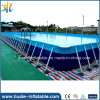 Amusement Park Water Games PVC Portable Metal Frame Swimming Pool