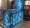 Natural Gemstone Blue Agate Slabs for Interior Decor