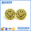 Wholesale Custom Rhinestone Emoji Earring Studs
