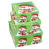 Snow Man Printing Christmas Display Storage Box / Christmas Square Paper Gift Box