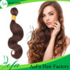 Wholesale Light Brown Remy Wavy Virgin Hair