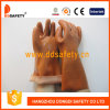 Ddsafety 2017 Brown PVC Work Gloves with Sandy Smooth Finished with 100%Cotton Liner