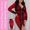 2016 Red Long Sleeve Bandage Dress