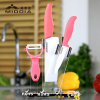 4PCS Ceramic Kitchen Knife Set with Block