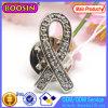 China Wholesale Custom Crystal Cancer Awareness Ribbon Brooch #51027