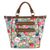 Stylish Flowers Embroidery Double Zipper-Front Leather Designer Lady Fashion Bag (MBNO030001)