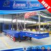Tri Axle Gooseneck Low Flat Bed Semi Truck Trailer