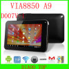 7 ′ Tablet Android4.0 with CPU Via8850 A9+Five-Point Touchscreen+HDMI (D007V-1)
