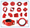 UL Listed FM Approval Ductile Grooved Iron Reducer Tee 139.7*73.0