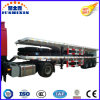 Three-Axle Flatbed Container Semi Truck Trailer with Bogie Axle