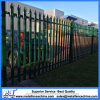 Ornamental Security Palisade Fence Steel Black Pointed Top