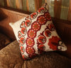Embroidery Decorative Cushion Fashion Cotton Pilow (YPL-486)