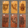 Cherry Wood Natural Carved Wood Case for iPhone 8