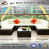 Well Furnir Outdoor PE Rattan 7 Piece Sectional Seating Group with Cushions