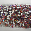 Flatback Crystal Rhinestones in High Quality Lt Siam Ab 5mm