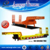 Tri-Axle Lowbed Cargo Semi Truck Trailer with Dolly